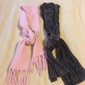 Accessories - 2 Scarves.. Pink and Grey